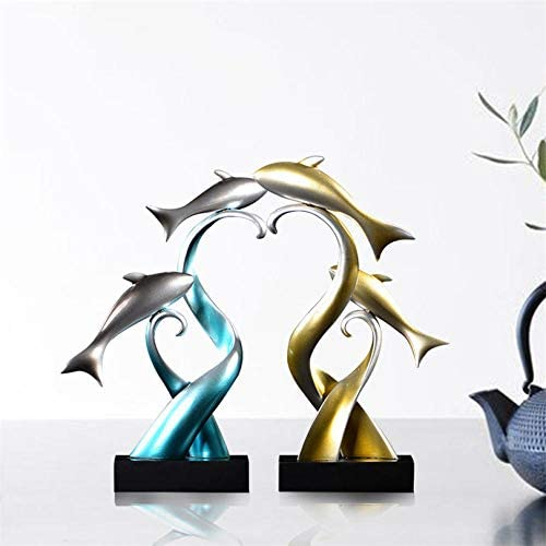 Figuras Decorativas Estatuas Arte Escultura De Peces Adornos 3
