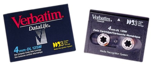 Verbatim 12/24GB DDS3 4MM 125M DAT Cartridge 1-Pack (Discontinued by Manufacturer) by Verbatim