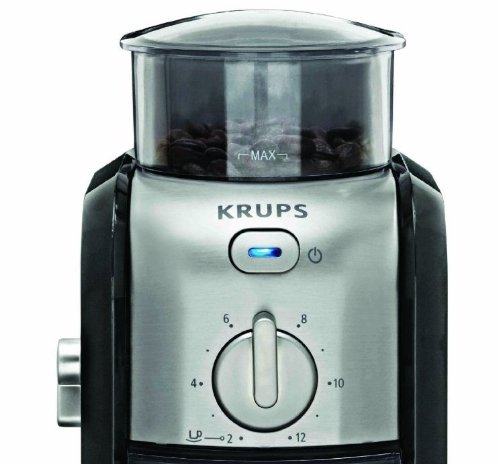 KRUPS GVX212 Coffee Grinder with Grind Size and Cup Selection and Stainless New