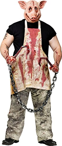 [FunWorld Pork Grinder Adult Pig Costume, Tan, One size] (Scary Costumes)