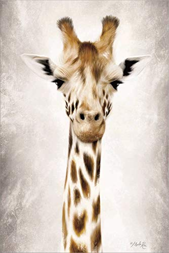 Geri The Giraffe Up Close by Marla Rae Laminated Art Print, 12 x 18 inches