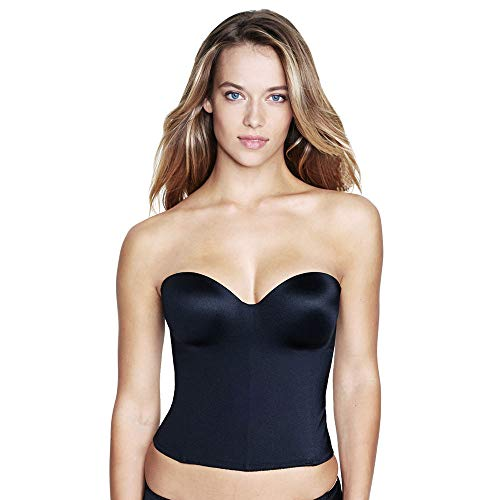 Dominique Molded Seamless Longline Bridal Bustier Style 8541, Black, ()