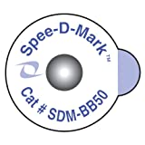 Spee-D-Mark SDM-BB50 Radiology Skin Marker Radiopaque, 5.0 mm Size (Box of 50)