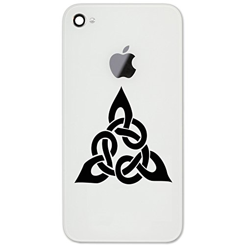 Triangular Celtic Cross Knot Vinyl Cell Phone Decal for the iPhone or Android (BLACK 2