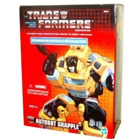 - Transformers Year 2003 Commemorative Series VI Generation 1 Re-Issue 5 Inch Tall Robot Action Figure - Autobot GRAPPLE with Arc Welder Rifle, 3 Rockets and 2 Fists (Vehicle Mode (Action Reissue)
