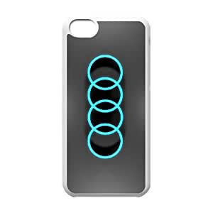 Audi iphone 5C Cell Phone Case White Phone Accessories JV17G171