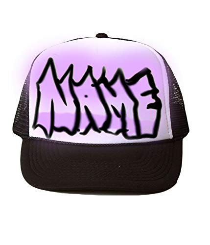Airbrushed Trucker Hat with any Name 3 ()