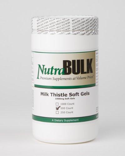 NutraBulk Milk Thistle 1000mg Gels mous 500 Compte