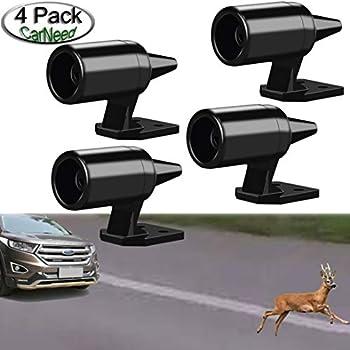 Lipctine 6 Pcs Deer Alert for Vehicles Black Ultrasonic Wildlife Warning for Auto Motorcycle Truck SUV and ATV Avoids Deer Collisions Car Deer Warning