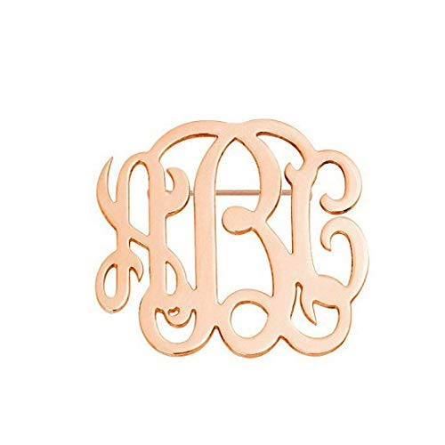 3 Initials monogram Brooch 1 to 3 inch any initial silver monogram Brooch in 925 sterling silver - Initials Wedding Pin