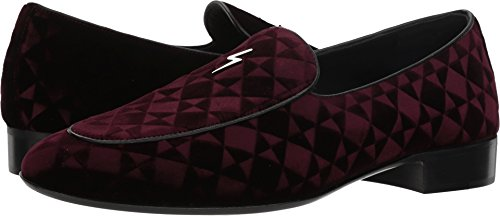 Giuseppe Loafer Mens Zanotti Bordeaux Velvet Geometric Cut rxvrXqA