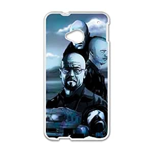 HTC One M7 Cell Phone Case White Breaking Bad Tribute.