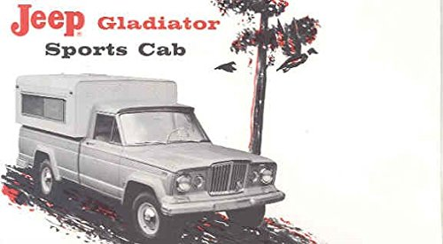 1963 Jeep Gladiator Sports Cab Camper Brochure for sale  Delivered anywhere in USA