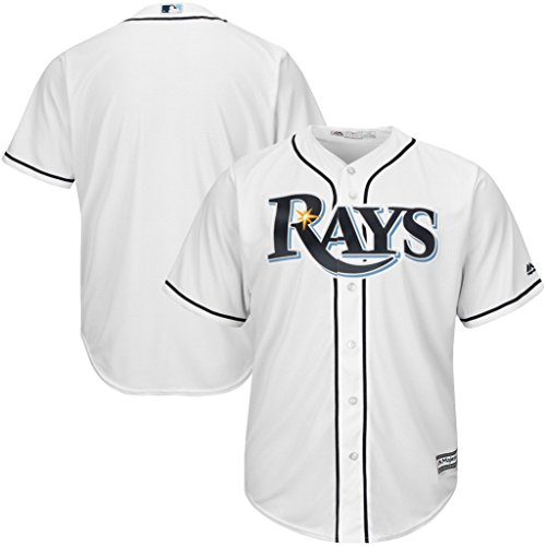 (VF Tampa Bay Rays MLB Mens Majestic Cool Base Replica Jersey White Big & Tall Sizes (2XT))