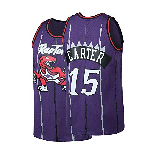Vince Basketball Carter (Mens Carter Jersey 15 Basketball VC Hardwood Classic Adult Toronto Vince Sizes Purple (XX-Large))