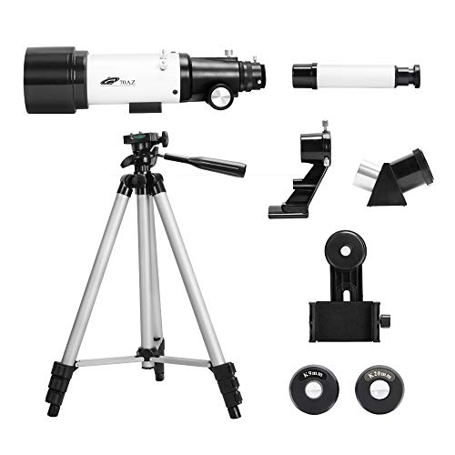 SOLOMARK Telescopes for Adults and Kids - 70mm Astronomical Refractor Telescope, Good Gift for Observing Moon Landscape - Travel with Backpack