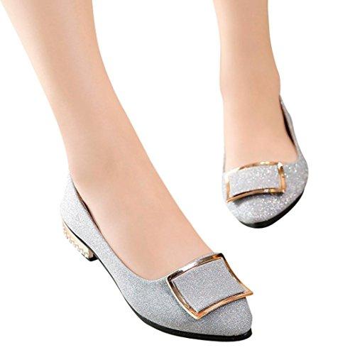 e 40 shoes Scarpe da Donna Punta Odejoy Basse Piatta Paillettes Cuciture 35 a con Basse Xwq7xSd15S
