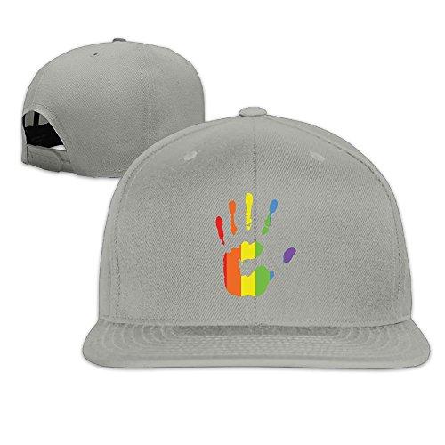 - MAGIICAP Unisex Trucker Caps, Fashion Gay Pride Rainbow Hand Adjustable Hip-Hop Flatbrim Baseball Hats