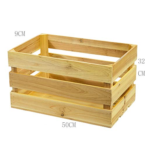 Xiguan Vintage Storage Box Wood Box Rectangular Supermarket Show Window Display Box Ingenuity Custom Solid Wood Storage Box (Color : B)