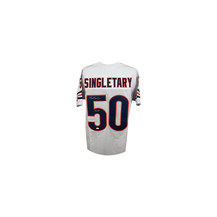 Mike Singletary HOF Autographed Chicago Bears Custom White Football Jersey JSA
