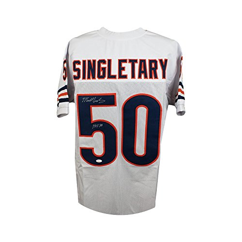 Mike Singletary HOF Autographed Chicago Bears Custom White Football Jersey  - JSA c381d0087