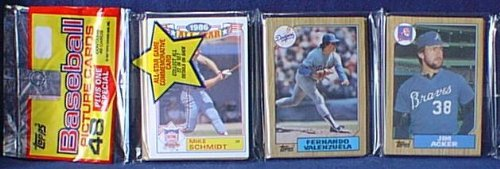 1987 Topps Baseball Card Rack Pack - 48 Cards - Factory Sealed
