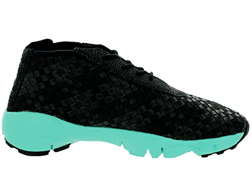 Nike Mens Air Footscape Desert Chukka Nero / Bianco-iper In Pelle Turchese