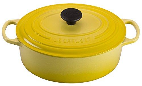(Le Creuset of America Enameled Cast Iron Signature Oval Dutch Oven, 8 quart, Soleil)