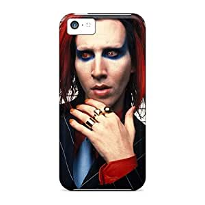 Shock-Absorbing Hard Phone Case For Iphone 5c (Rxr16394wttK) Provide Private Custom Nice Marilyn Manson Band Pattern