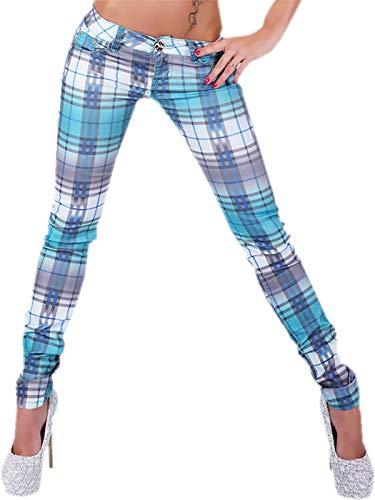 Donna G Green Skinny Pantaloni Turquoise Smack qPxtPrU