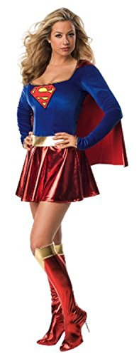 [Maimai Comics Secret Wishes Supergirl Costume Red/BlueSmall Sexy Style] (Ny Costumes Rental)