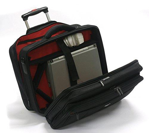 Davidts Pilotenkoffer Aktentrolley Business Trolley tasche Laptoptasche Schwarz 261 114 Bowatex