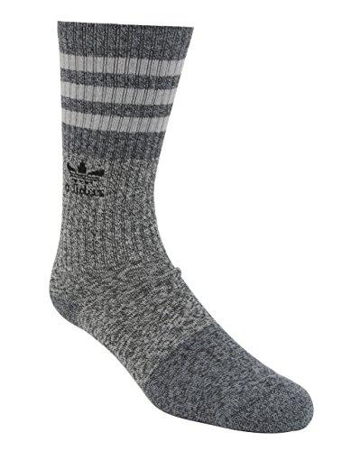 adidas Men's Roller Triple Marl 3-Pack Crew Socks, Black/Grey/Onix, Size 6-12