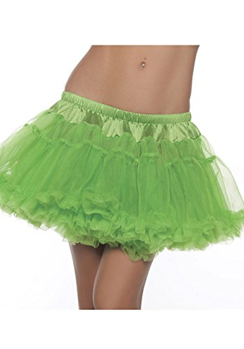 Petticoat Adult Sexy Costume Accessory - Be Wicked Costumes Women's Kate 12 Inch 2-Layer Petticoat Costume Accessory, Green, One Size