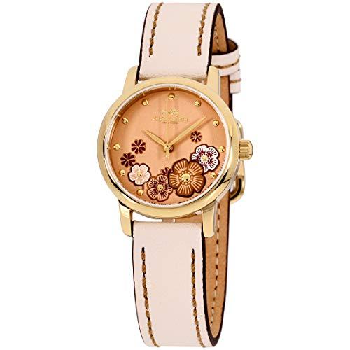 Coach Grand Quartz Movement Beige Dial Ladies Watch 14503059