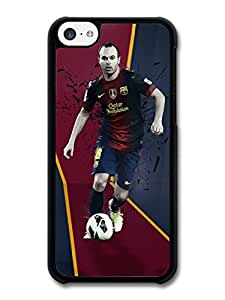 Andres Iniesta FC Barcelona Red Blue Football Player case for iPhone 5C