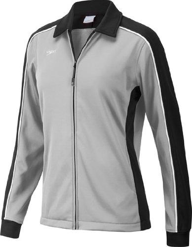 Speedo 7201482 Womens Streamline Warm Up Jacket, Black/Grey, M