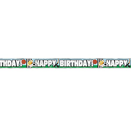 12ft Classic Sports Birthday Banner