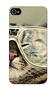 Ellent Design Cats Animals Glasses Case Cover For Iphone 5/5s For New Year's Day's Gift