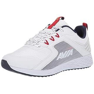 Avia Women's Avi-Ryder Sneaker, White/Chinese red/Peacoat/Gold, 11 Medium US