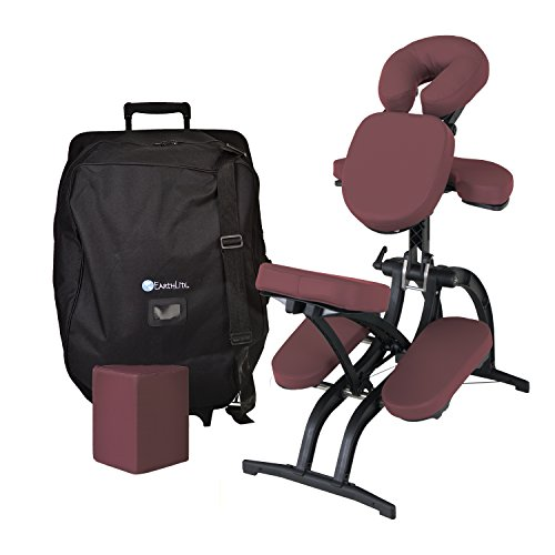 EARTHLITE Avila II Portable Massage Chair Package - Folding Tattoo Spa Massage Chair incl. Carry...