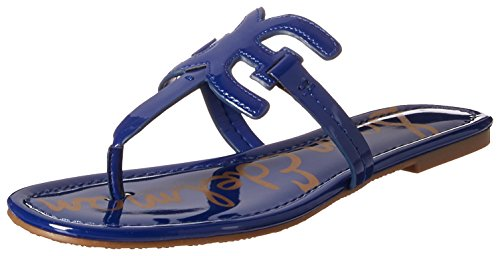 Sam Edelman Women's Carter Flat Sandal, deep Indigo Patent, 8.5 M US