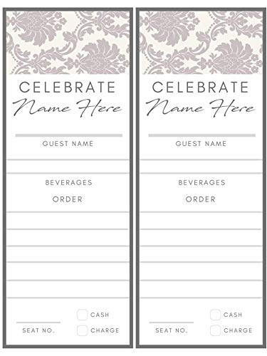 - Custom Menu Cards - Damask
