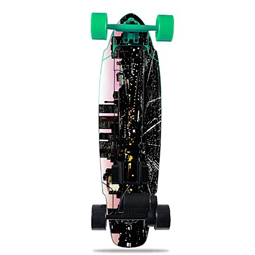 - MightySkins Skin for Yuneec E-GO2 Electric Skateboard - Urban Night | Protective, Durable, and Unique Vinyl Decal wrap Cover | Easy to Apply, Remove, and Change Styles | Made in The USA
