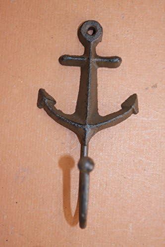 素朴な航海灯台アンカー玄関壁フック、鋳鉄バンドル12アイテム