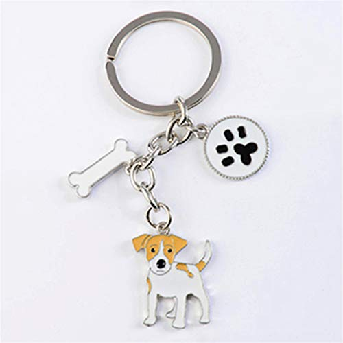 Shih Tzu Pendant Key Chains for Women Girls Men Silver Color Metal Alloy Pet Dog Bag Charm Car Keychain Key Ring Holder Fashion Jack Russell Terrier