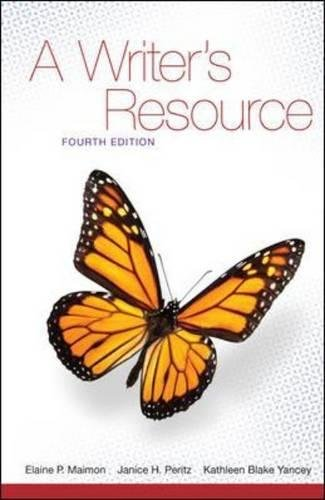 A Writer's Resource, 4th Edition