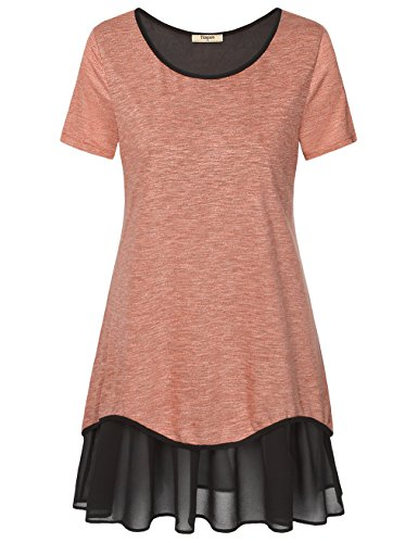 tunics-for-womentimeson-womens-summer-short-sleeve-tunic-pleated-chiffon-hem-loose-comfy-t-shirt-dre