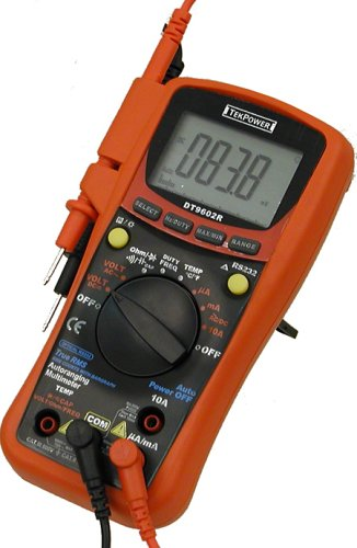 Tekpower DT9602R True RMS Auto / Manual Digital Multimeter with RS232 Optical Interface, Computer Connected