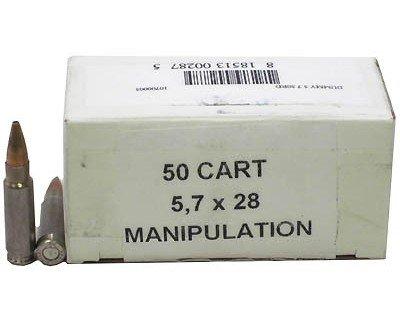 FNH USA 39538 5.7x28mm Dummy Round - 50/Box (P90 Submachine Gun Airsoft)